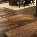 Various wood species used for producing natural wood floors and skirting boards